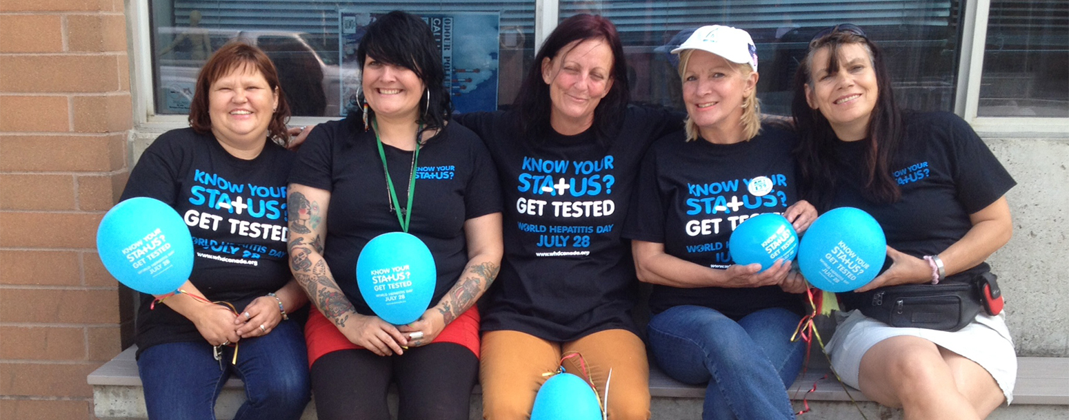 Women attending World Hepatitis C Day