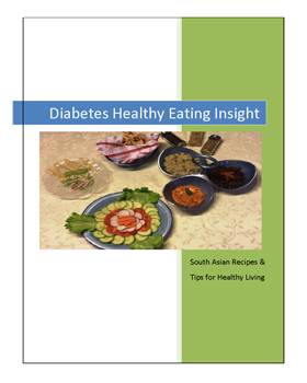 Cover for South Asian Recipes & Tips for Healthy Living, a cookbook