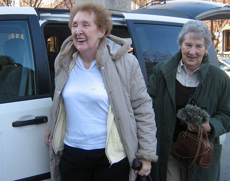 Seniors using Harmony Hall Transportation Services