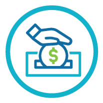 icon of a person donating