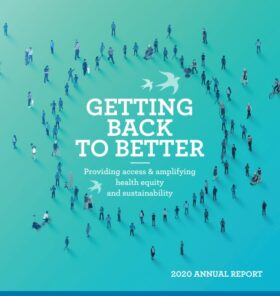 Front cover of the 2020 Annual Report