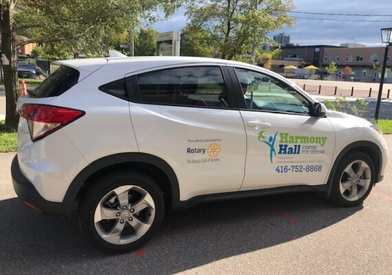 photo of SUV donated by the Rotary Club