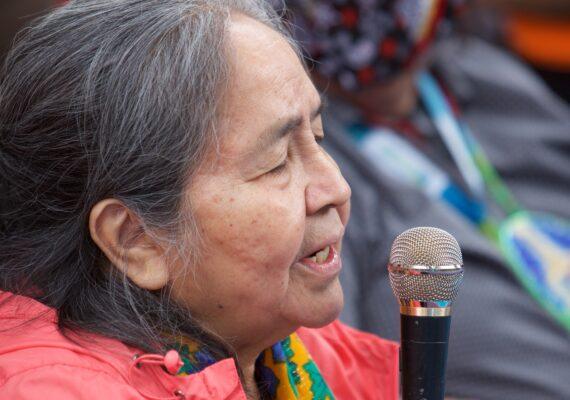 Indigenous elder blessing the earth